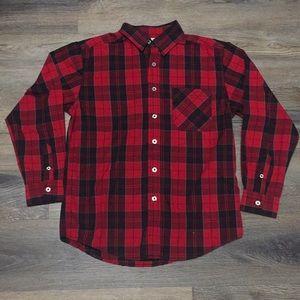 Boys Plaid Button Down Shirt Size XL (14/16)